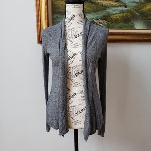 Express Heathered Gray open front cardigan
